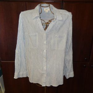 Style & Co Long Sleeve Button Down Blouse